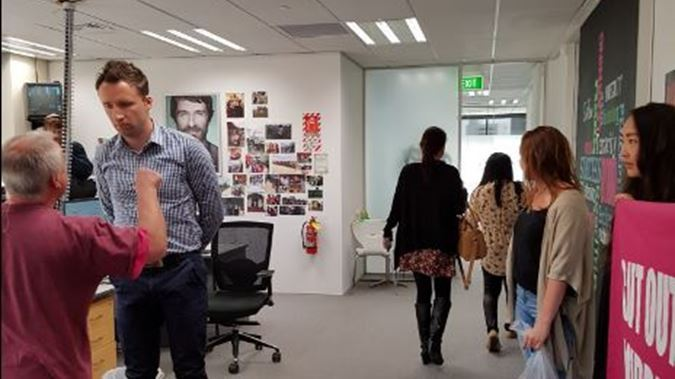 Auckland Recruitment Office Occupied by Protesters